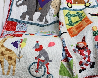 Baby/Child Quilt Pattern, Quilt Pattern, Circus Parade Quilt Pattern, Toddler Quilt Pattern, Pattern Only