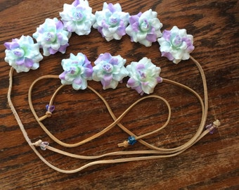 Mommy and Me matching Flower Headbands-  Flower Crown - Halo