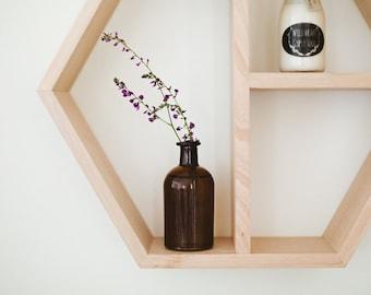 Hexagon Shelf in Tasmanian Oak