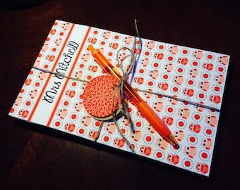 Personalize Notepad owl teacher gift modern - HOOT HOOT