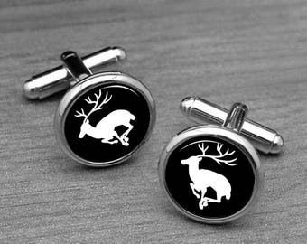 Caribou Cufflinks Elk Grandfather Father Son Brother Husband Gifts Groom Groomsmen Wedding Cufflinks Anniversary Unique Gifts