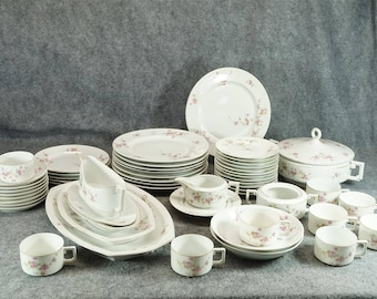 Heinrich Porczellan H&C Selb Bavaria China Set 51 Pieces C. 1930S