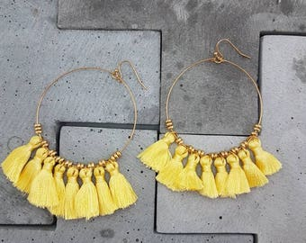 Dangle Tassel Earrings - Zuri