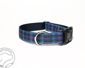 """Ancient Pride of Scotland Tartan Dog Collar - 1"""" (25mm)Wide - Choice of style and size - Martingale Dog Collars or Quick Release"""
