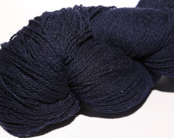 KAUNI Undyed Wool Yarn, Dark Blue, Worsted Weight 8/2  2ply, 100% wool