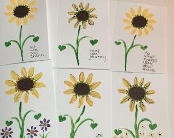 Inspirational sunflower cards