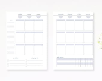 Weekly Planner Inserts