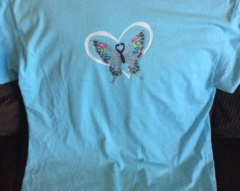 Heart, Butterfly Tshirt