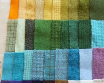 Teinte de vente à la main en laine feutrée des chutes lot numéro 1410 quilting Acres Rug Hooking Applique laine sou tapis en laine