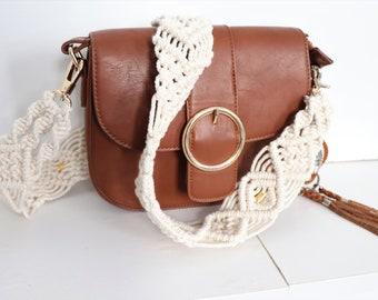 Strap bag purse macrame - strap camera macrame - macrame bag handle - gift idea - Bohemian chic