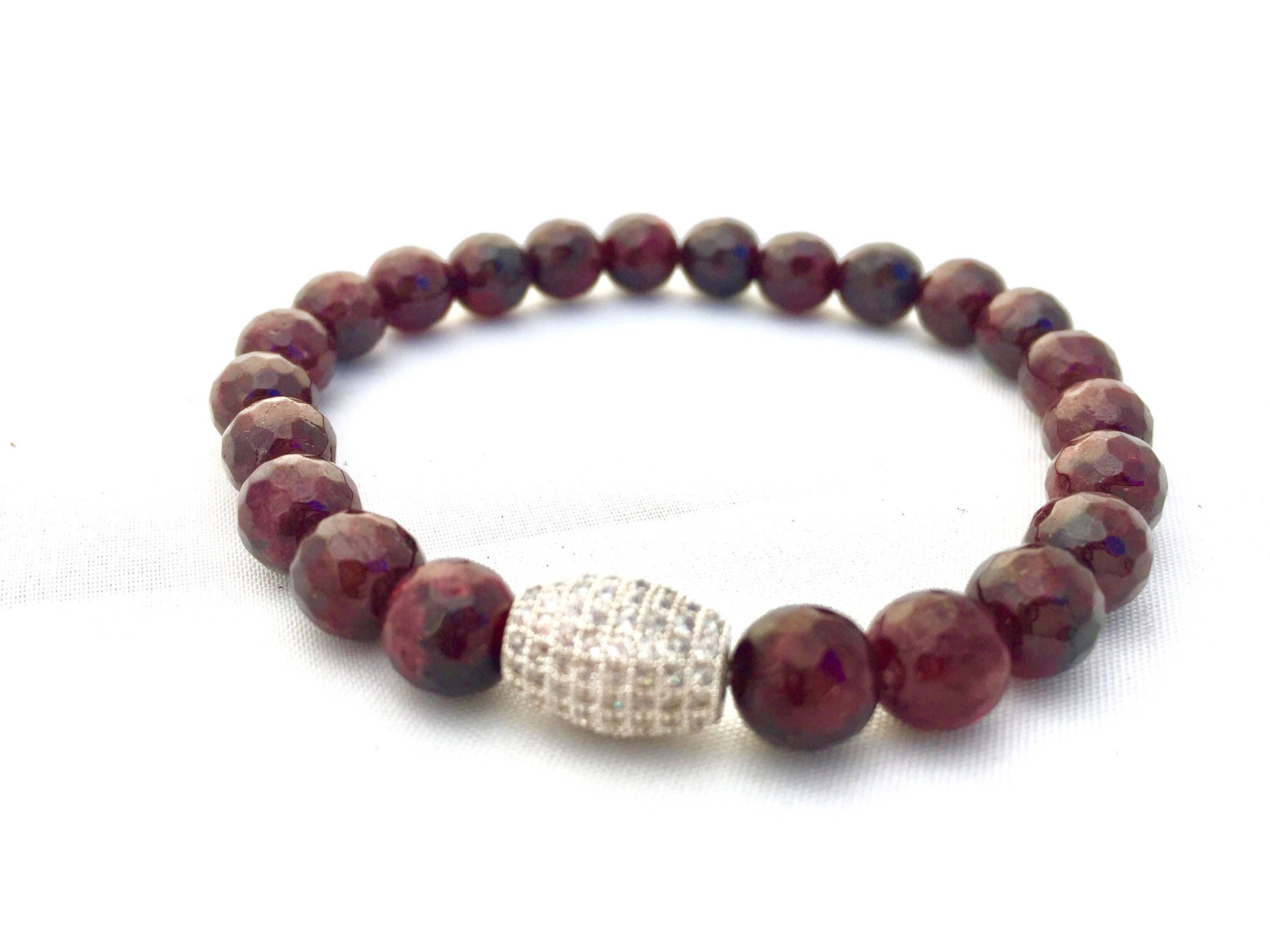 di products red rosary thread style garnet with dark angelo s bracelet