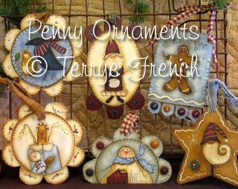 Penny Ornaments - by Terrye French, E-Pattern