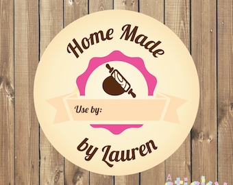 Personalized Home Baked Stickers, Home Made Stickers, Baking Labels, Baking Tags, Personalized Baking Stickers, Custom Stickers, Bespoke Tag