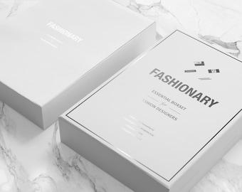 Fashion Designer SKETCHBOOK | Fashionary Essential Purewhite GIFT Boxset