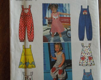 Simplicity 7157, sizes 1/2-2, children's dress and romper, UNCUT sewing pattern, craft supplies