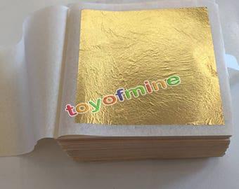100 sheets 4.33 X 4.33cm 24K pure genuine edible gold leaf foil sheet 99.99% gold food decoration