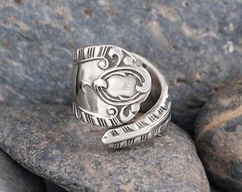 Silver Plate Silverware Handle Ring - Spoon Ring SR034