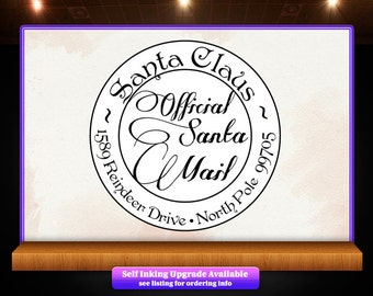 Santa Claus Christmas - Official Santa Mail - Return Address Stamp - Perfect for Christmas Cards, Gifts and More!  - SKU 1146