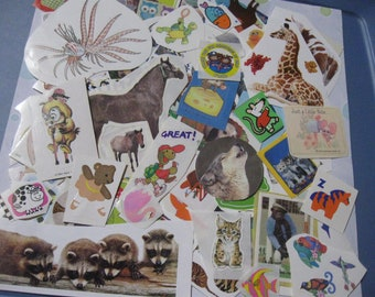 Lot of animal stickers 155 pieces!