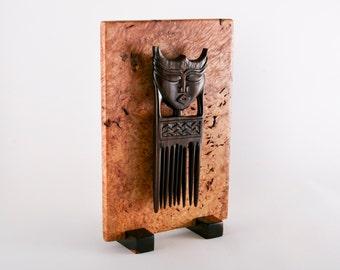 African comb sculpture