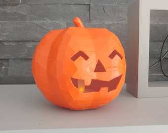 3D Printed Geometric Halloween Pumpkin
