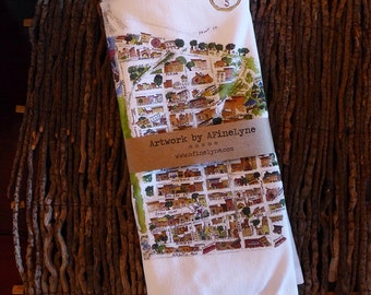 Brooklyn Heights Map Tea Towel