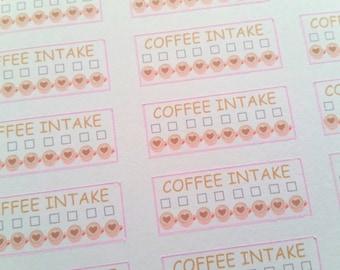 Coffee Intake Trackers (Set of 24) Item #051