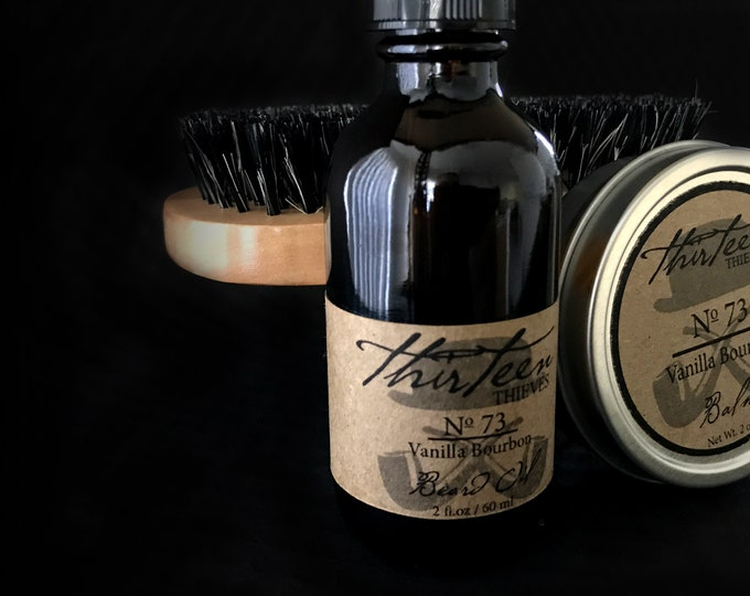 Two Ounce Beard Grooming Kit with Boar Bristle Brush