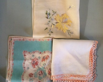 Handkerchief vintage something old something blue