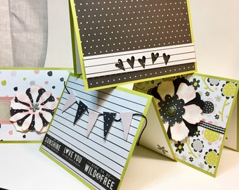 Note cards, set of 4 with coordinating envelopes