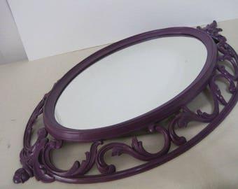 Royal Plum Rococco Framed Mirror