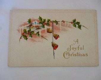 Early 1900s Postcard, A Joyful Christmas, Unused