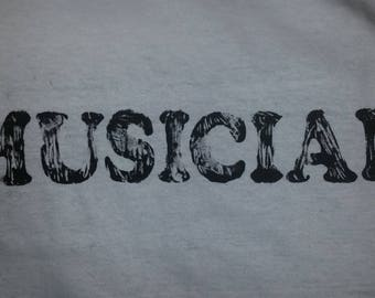 """Black or White """"Musician"""" T-shirt (Glow-in-the-dark)"""