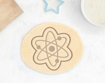 Atom Cookie Cutter – Science Cookie Cutter Science Gift Chemistry Gift Genetics Gift Science Cookies Test Tube Geek DNA Cookie Cutter