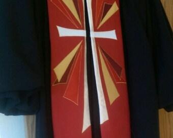 Clergy Stole  - Pentecost Cross