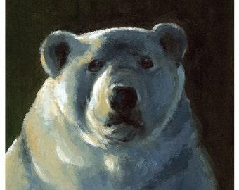 I'd like more Ice Please - LARGE polar bear art