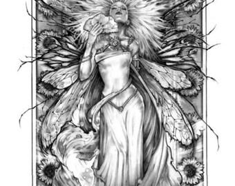 SUMMER FAIRY Fantasy Art Print