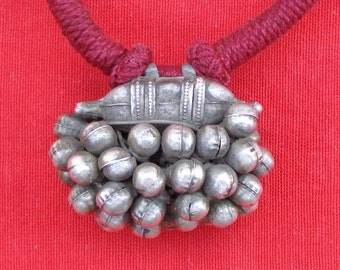 Vintage Antique Ethnic Tribal Old Silver Necklace India