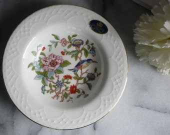 """Aynsley Fine Bone China """"Pembroke"""" floral, vintage Trinket bowl, wedding gift for her, anniversary gift, Mother's Day gift, jewelry dish"""