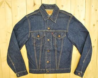 "Vintage 1960's LEVIS ""BIG E"" Type III 71205 0217 Trucker Denim Jean Jacket / Retro Collectible Rare"