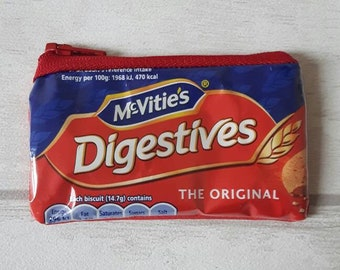 McVities Digestives Purse: Upcycled, Recycled and Repurposed Bag made Using a Recycled Biscuit Wrapper Handmade by mylittlesweethearts