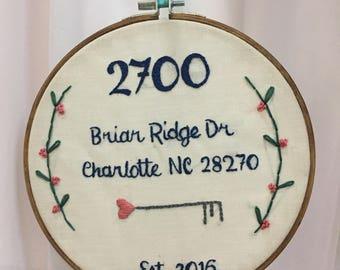 Custom Address Hoop