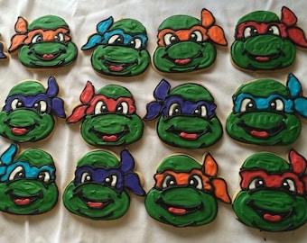 Ninja Turtle Party Favors Sugar Cookies