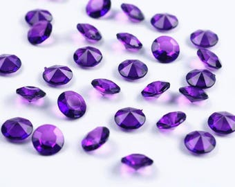 100 diamonds purple decorative plastic table