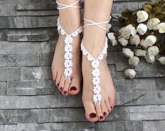 Wedding Sandals, Barefoot Sandals, Foot jewelry, Footless Sandals, Beach Wedding Accessory, Boho Sandals, Bridal Shower, Bridesmaid Gift