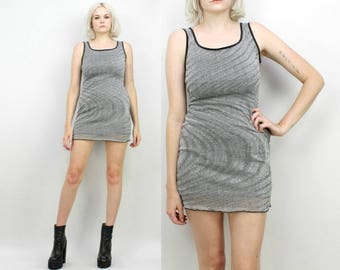 90s Silver Sparkly Mini Dress, Size Small, Space Dress, Swirly,Metallic, Extra Small, Tank Dress, Rave, Raver, Club Kid, Party Dress