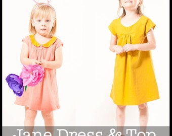 Jane Top and Dress PDF Sewing Pattern