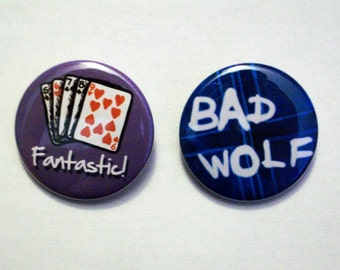 """Doctor Who """"Nine"""" 1.5 Inch Button Set"""
