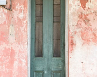 New Orleans Green Door Greeting Cards