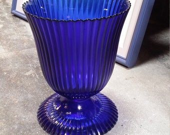 vintage blue glass jars